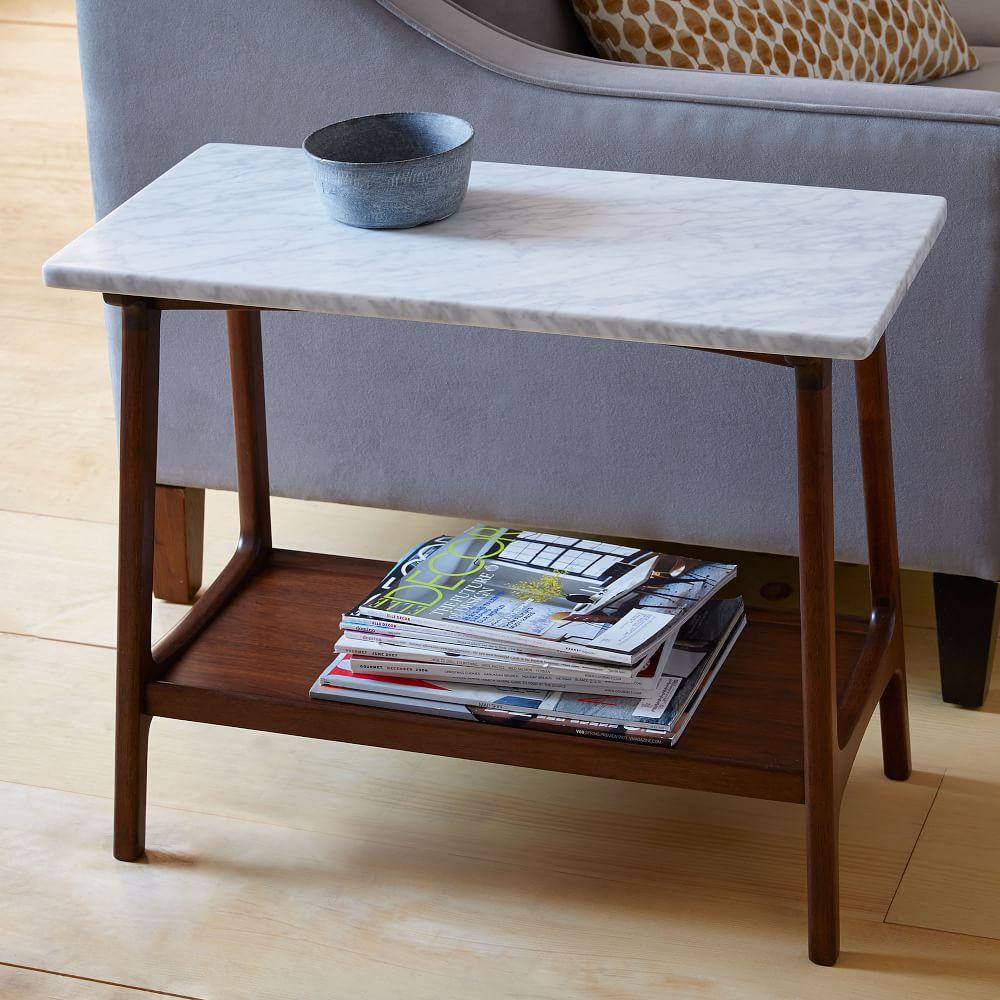 Reeve Mid-Century Side Table - Marble