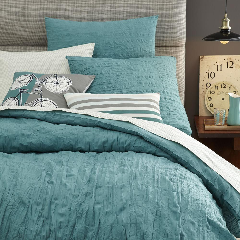 crinkle duvet cover pillowcases west elm uk. Black Bedroom Furniture Sets. Home Design Ideas