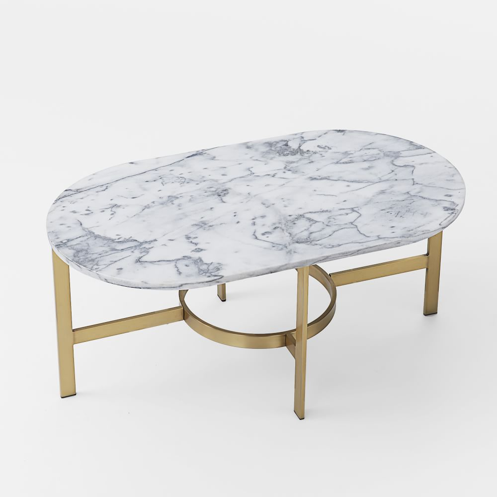 marble oval coffee table. Black Bedroom Furniture Sets. Home Design Ideas
