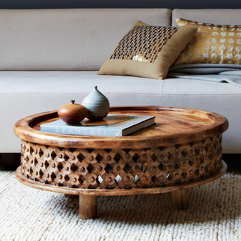 Carved wood coffee table west elm uk carved wood coffee table carved wood coffee table geotapseo Gallery