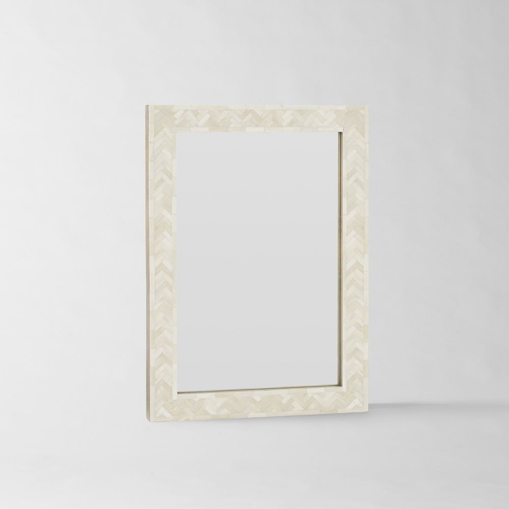 Parsons small wall mirror bone inlay west elm uk for Small wall mirrors