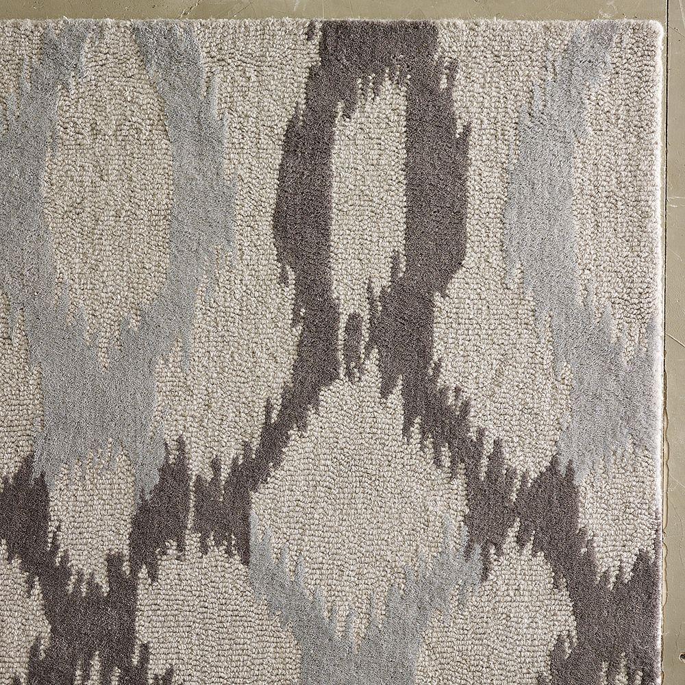 West Elm Wool Rug: Ikat Links Wool Rug