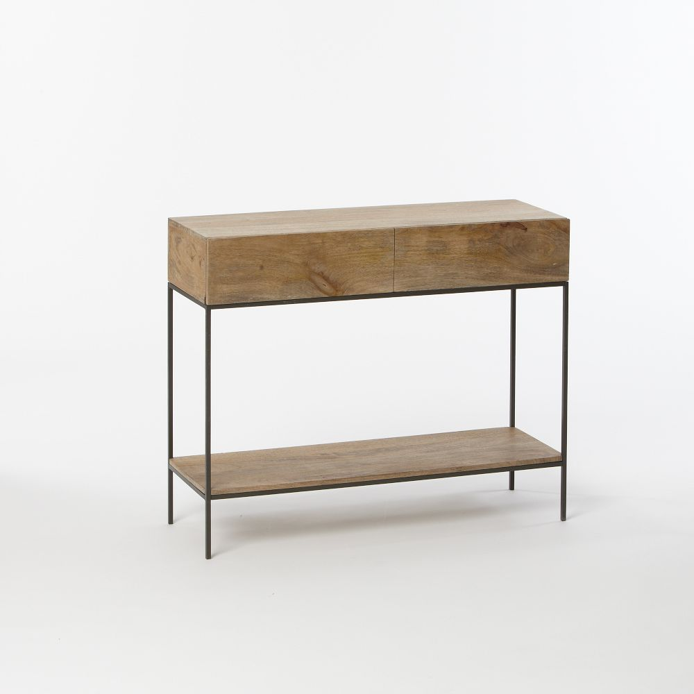 Industrial storage console west elm uk Console tables with storage