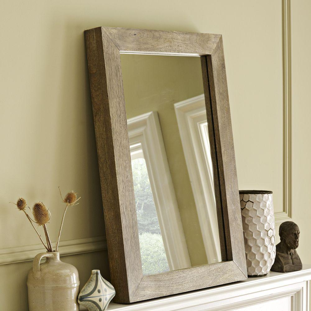 Parsons Wall Mirror - Natural Solid Wood | west elm UK