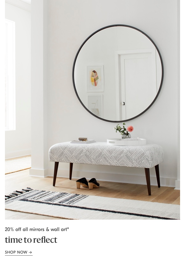 20% off all mirrors & wall art