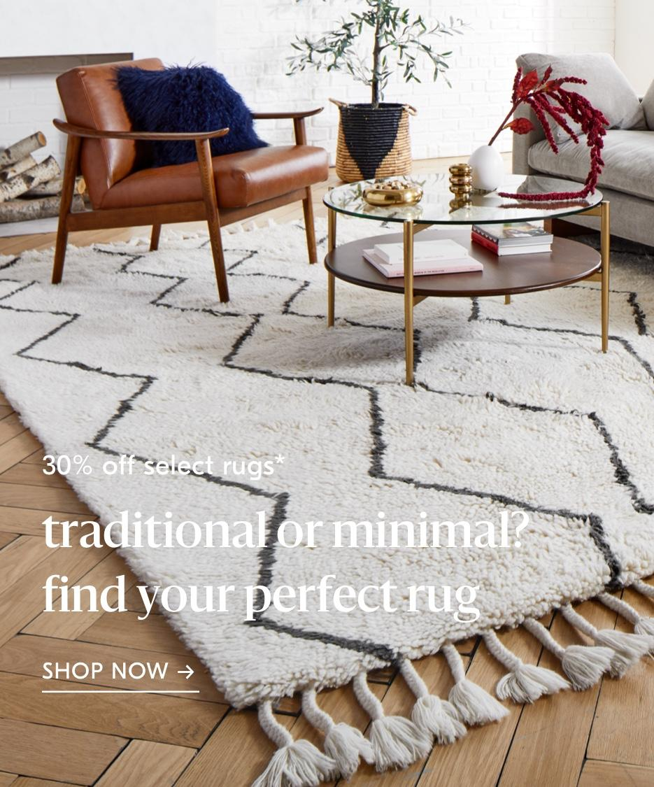 30% off select rugs