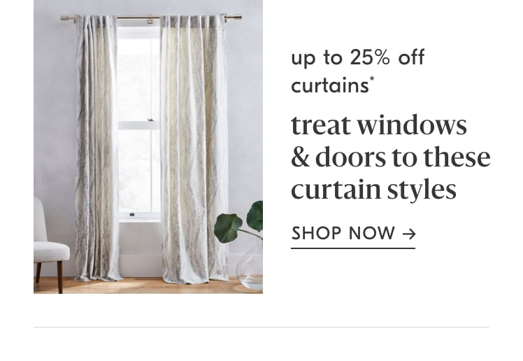 up to 25% off curtains