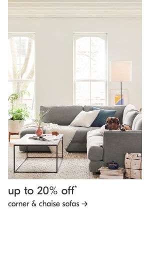 up to 20% off corner & chaise sofas