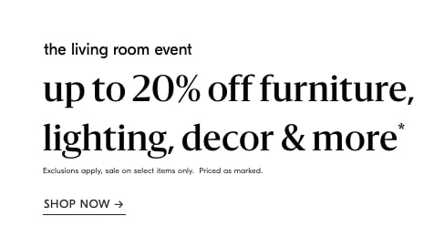 up to 15% off the living room event