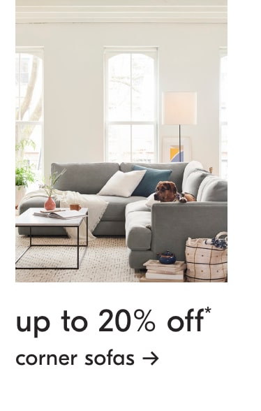 up to 20% off corner sofas
