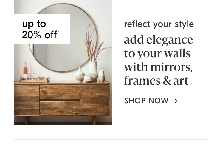up to 20% off mirrors