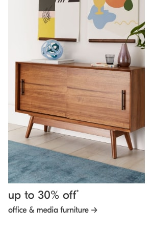 up to 30% off office and media furniture