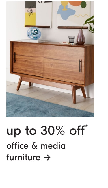 up to 30% off office & media furniture