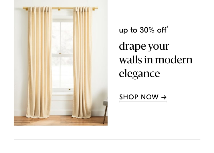 up to 30% off curtains