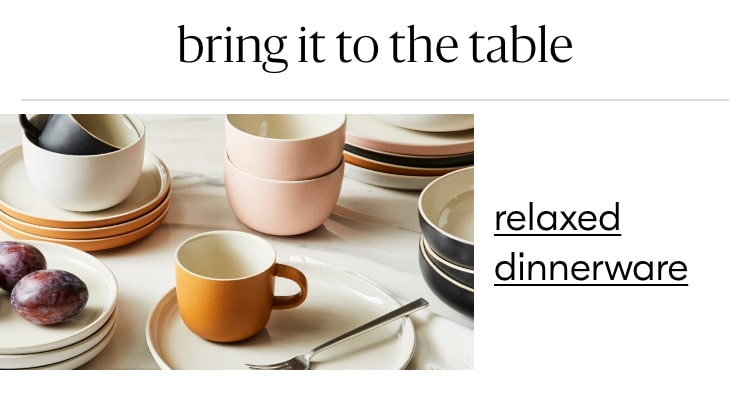 relaxed dinnerware
