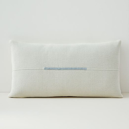Accented Cotton Canvas Lumbar Cushion Cover