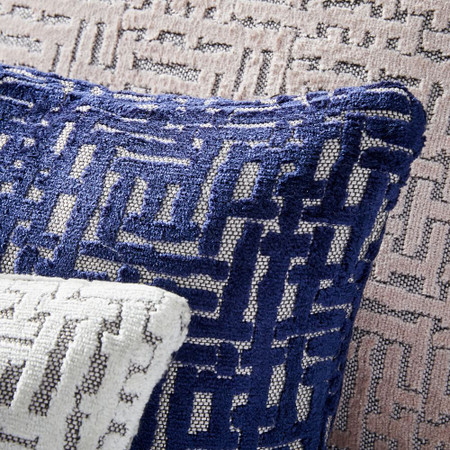 Allover Crosshatch Jacquard Velvet Cushion Covers