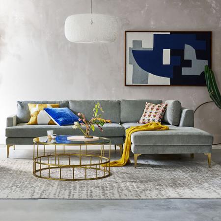 Andes 3 Piece Corner Chaise Sofa West Elm United Kingdom