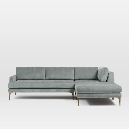 andes 3 piece corner chaise sofa