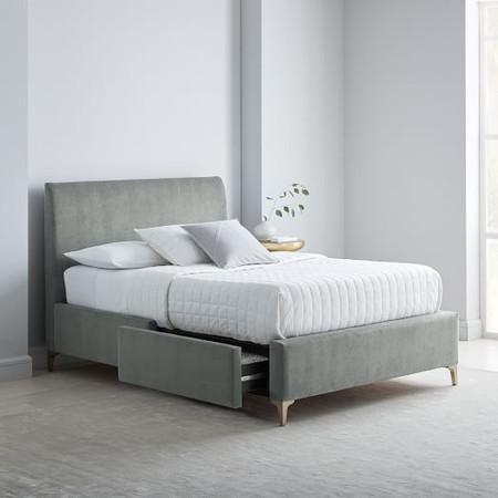 Andes Deco Upholstered Storage Bed