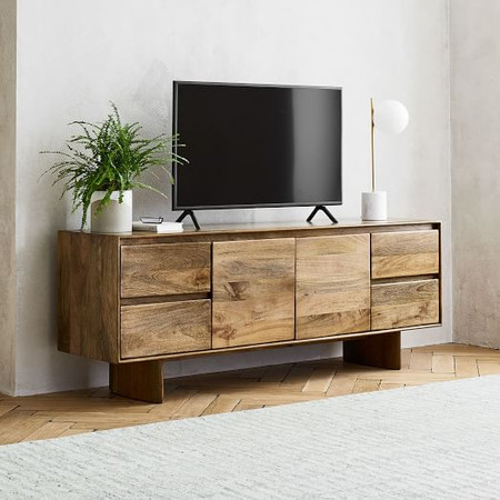 Anton Solid Wood Media Console (173 cm)