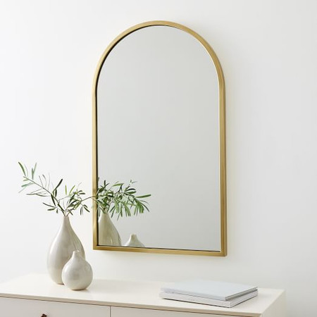 Metal Framed Arched Wall Mirror
