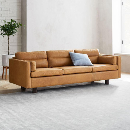 Aston Leather Sofa (220 cm)