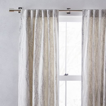 Bark Texture Jacquard Curtain - Platinum