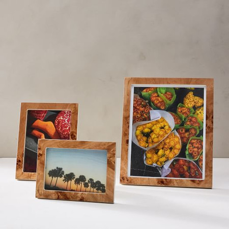 Burled Wood Photo Frame