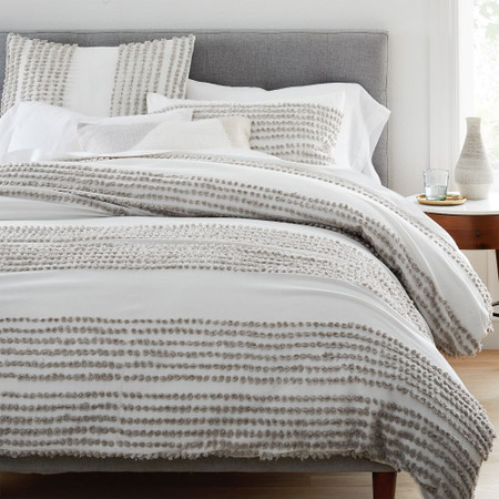 Candlewick Duvet Cover & Pillowcases - Stone Grey