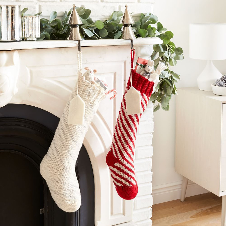 Candy Cane Striped Stocking