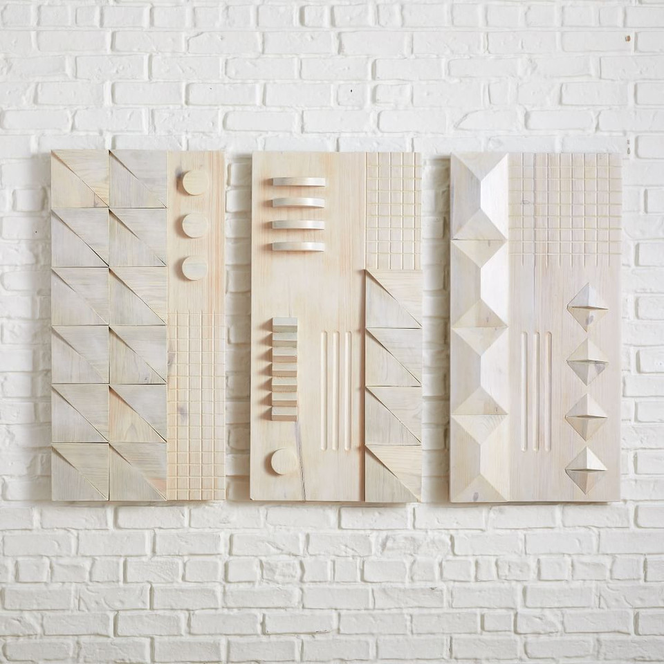 Diego Olivero Carved Wood Wall Art