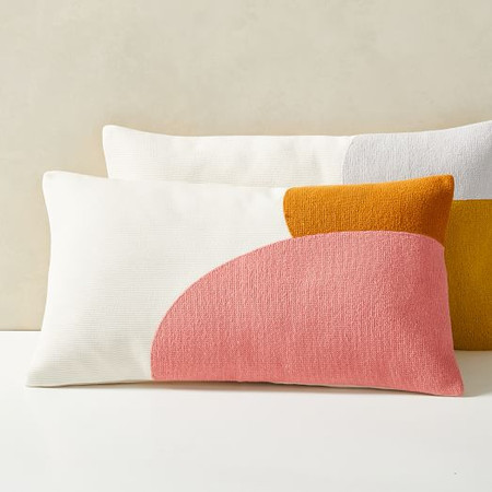 Corded Colour Shapes Cushion Cover