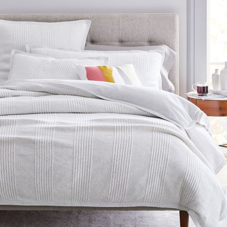 Cotton Cloud Jersey Duvet Cover & Pillowcases - Light Heather Grey