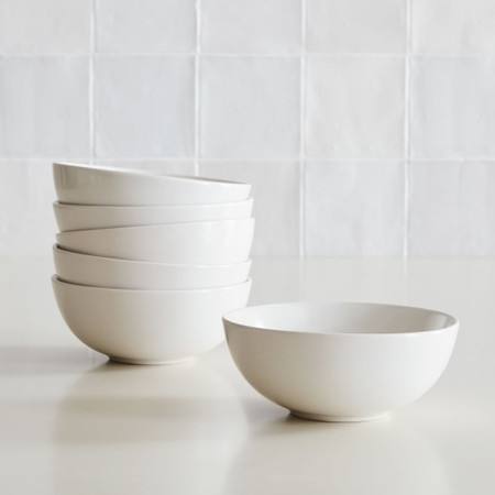 Coupe Stoneware Cereal Bowls (Set of 6)