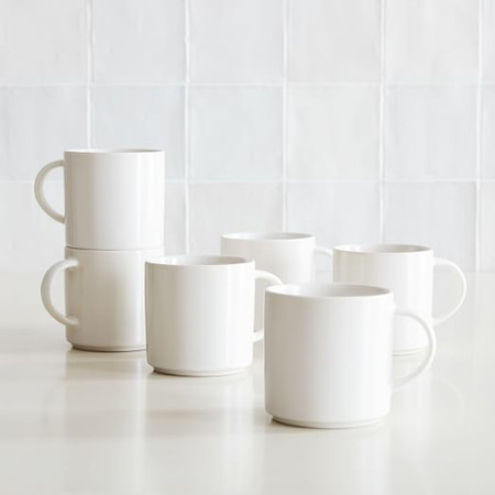 Coupe Stoneware Mugs (Set of 6)
