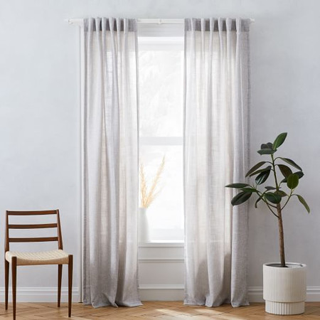 Crossweave Blackout Curtain - Stone White