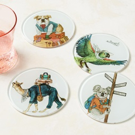 Dapper Animal Coasters (Set of 4)