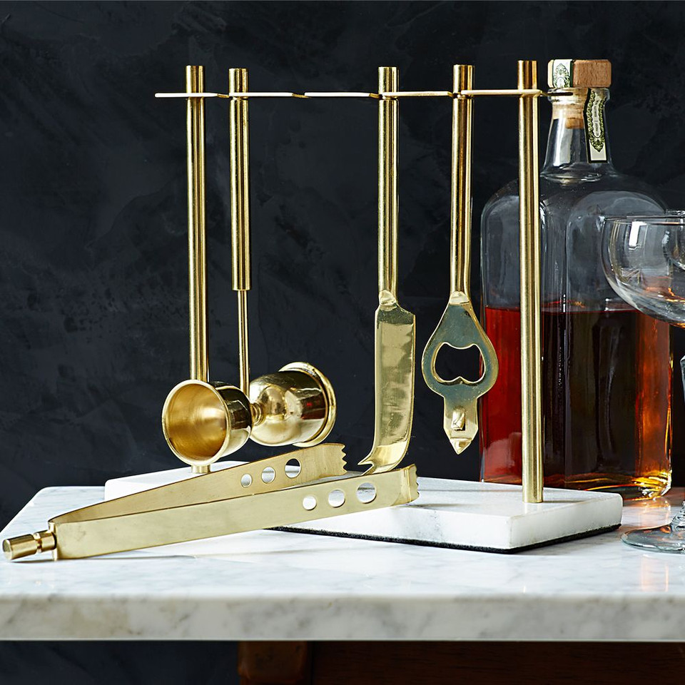Deco Barware Collection - Gold & Marble