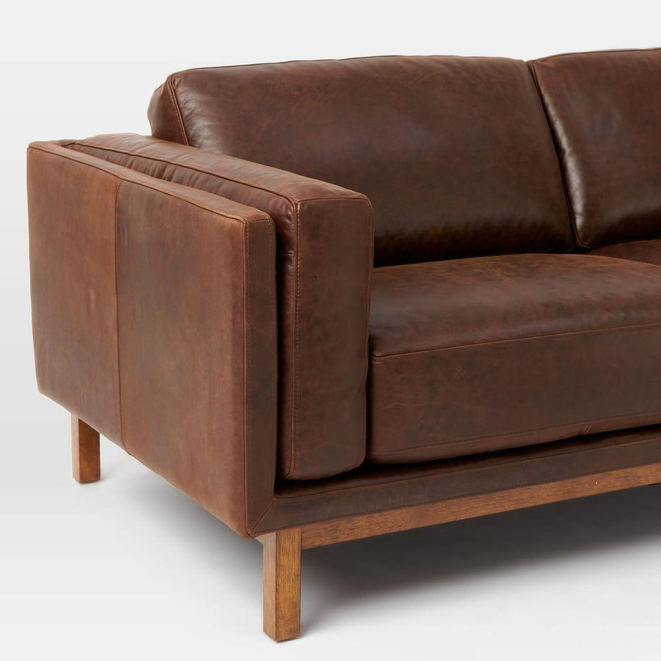Dekalb Leather Sofa (216 cm)