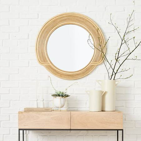 Desert Sun Mirror - Natural Cane