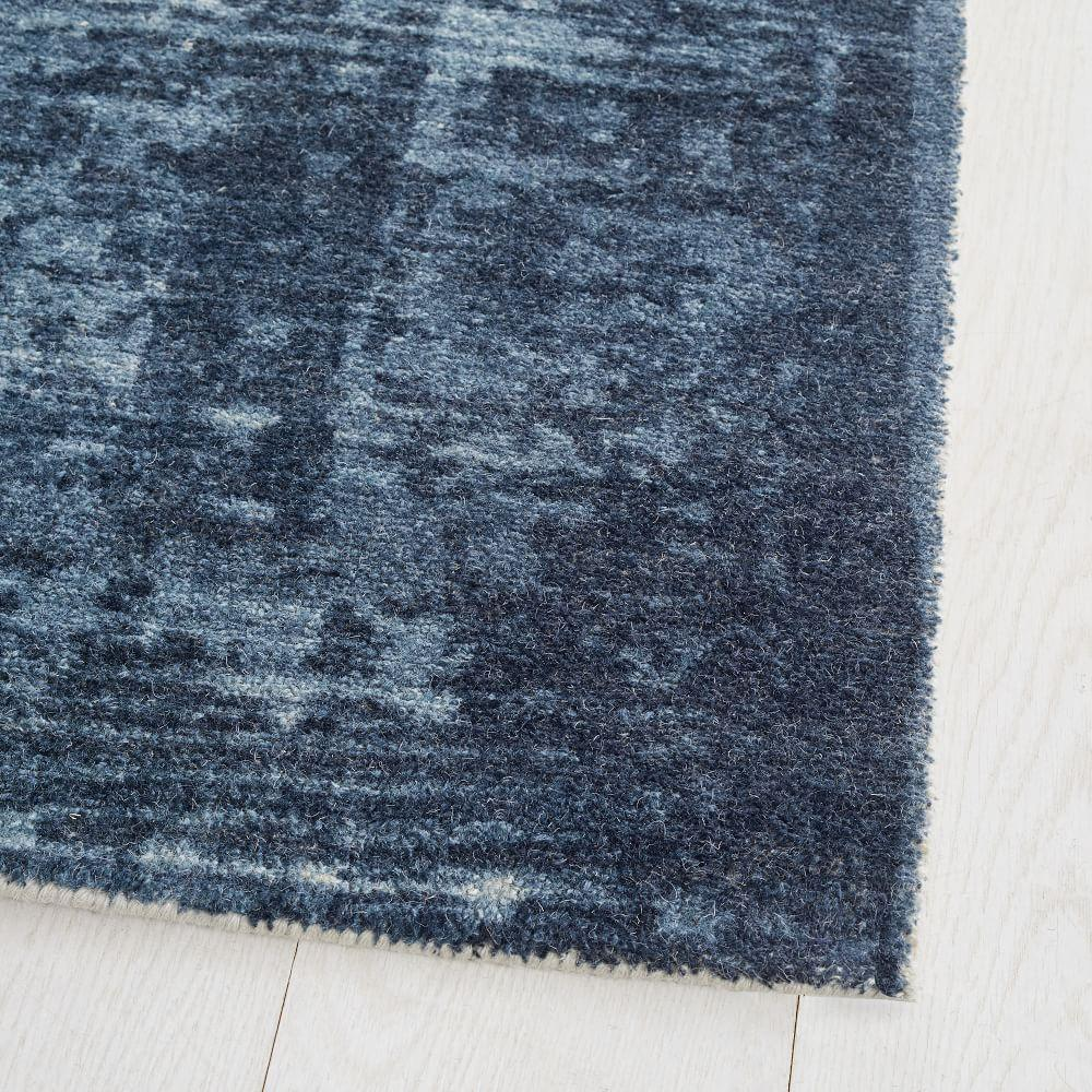 John Lewis DISTRESSED ARABESQUE Wool Midnight Rug 152cm x 244cm ***RRP £449***