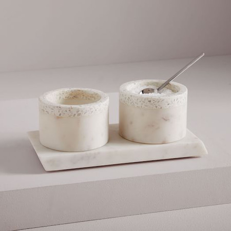 Edge Marble + Terazzo Salt Cellars (Set of 2)
