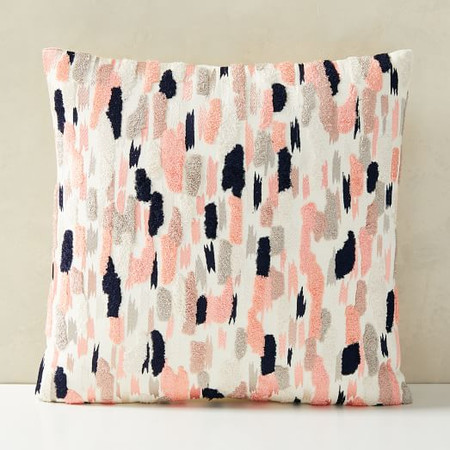 Embroidered Overall Brushstrokes Cushion Cover