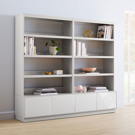 Emilia Media Set - Console (203 cm) + 2 Hutches