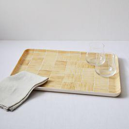 Fabric Pattern Tray - Yellow Lines