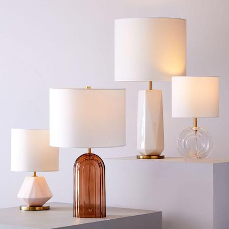 Faceted Porcelain Table Lamp 63 Cm, Porcelain Table Lamp