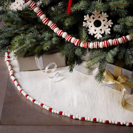 Felt Pom Pom Tree Skirt