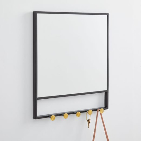 Floating Lines Entryway Mirror & Hooks
