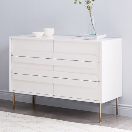 Gemini 6 Drawer Chest White Lacquer West Elm United Kingdom